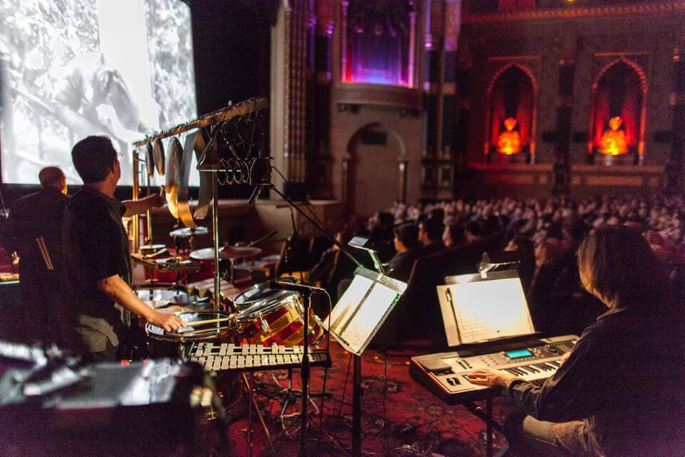 Alloy Orchestra at the Milwaukee Film Festival, 2014.